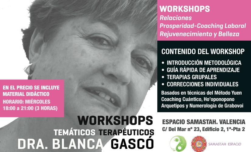 WORKSHOPS DRA GASCÓ copia